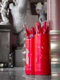 Fortune sticks. Red fortune sticks in the Chinese temple Royalty Free Stock Photos