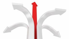 Red forward arrow Royalty Free Stock Photo