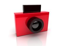 Red foto camera Stock Photo