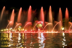 Red fountain Royalty Free Stock Image