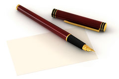 Red Fountain Pen Royalty Free Stock Photography