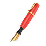 Red fountain pen Royalty Free Stock Photos