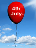 Red Fourth of July Balloon Shows Independence Spirit Royalty Free Stock Images