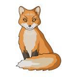 Red fox.Animals single icon in cartoon style vector symbol stock illustration web. Stock Image