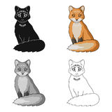 Red fox.Animals single icon in cartoon style vector symbol stock illustration web. Royalty Free Stock Photography