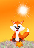Red fox cartoon Royalty Free Stock Photo