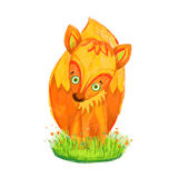 Red fox. Cute red fox vector illustration stock illustration
