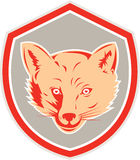 Red Fox Head Front Shield Retro Royalty Free Stock Photography