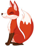 Red fox. Illustration of a very cute red fox Royalty Free Stock Images
