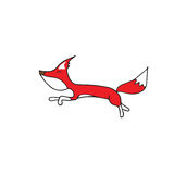 Red fox jumping Stock Images