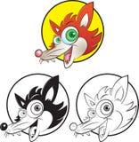 Red fox mascot. Vector illustration of red fox mascot Stock Photos