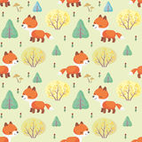 Red fox pattern Royalty Free Stock Photos