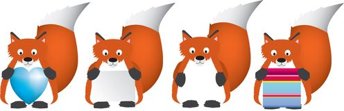 Red fox set Stock Photos