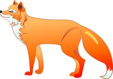 The red fox. The silhouette of the red fox in a Royalty Free Stock Images
