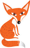 Red fox. A  vector cartoon of a red fox Royalty Free Stock Images