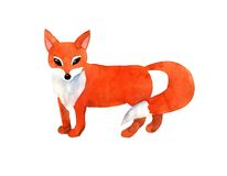 Red fox. On white background Stock Images