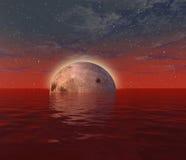 red för 2 moon Arkivbilder