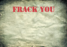 Red Frack you letters on a vintage poster Stock Image