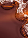 Red Fractal Background. A red background decorated with fractal render. It leaves lot of space for possible text add Vector Illustration