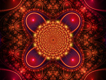 Red fractal background Stock Image
