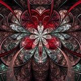 Red fractal flower stock illustration