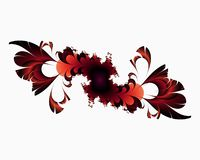 Red fractal, flowery elegant sparkling contrasts lights, texture, abstract background. Red fractal flowery sparkling diamond shapes fantasy bright geometries royalty free illustration