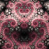 Red fractal heart Royalty Free Stock Photography