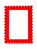 Red frame. On white background stock photos