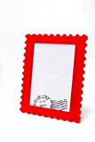 Red frame. On white background stock photography