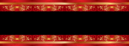 Red frame on black Stock Photography