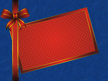 Red frame with bow Stock Photography