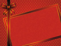 Red frame with bow Royalty Free Stock Images