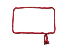 Red frame of cord Royalty Free Stock Photo