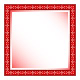 Red frame with floral ornament Stock Images