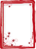 Red frame floral pastel Stock Image