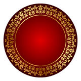 Red frame with gold ornament Royalty Free Stock Photo