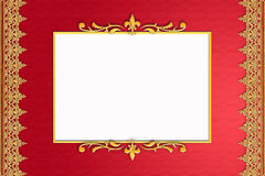 Red frame with golden ornate Royalty Free Stock Photo
