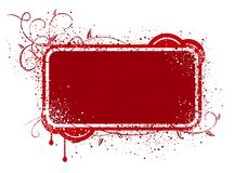Red frame illustration royalty free stock images