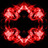 Red frame made of smoke. On black background Royalty Free Stock Photography
