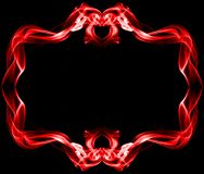 Red frame made of smoke. On black background Royalty Free Stock Image