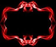 Red frame made of smoke Royalty Free Stock Image