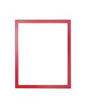 Red  frame for painting or picture on white background Royalty Free Stock Photo