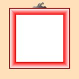 Red frame for photo Royalty Free Stock Image