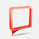 Red frame rectangular discount sticker Stock Images