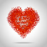 Red frame in the shape of a heart Royalty Free Stock Photos