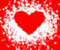 Red frame with shiny heart Stock Photography