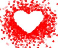 Red frame with shiny heart Royalty Free Stock Photos