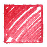 Red frame with slanting strokes Royalty Free Stock Image