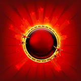 Red frame with stars Royalty Free Stock Image