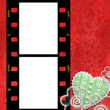 Red frame for two photos of love Royalty Free Stock Photo
